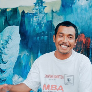 Pak Dewo, the painter who has been painting since 6 y.o!