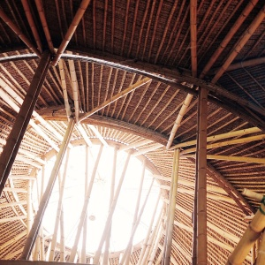 The construction 100% consists of bamboo